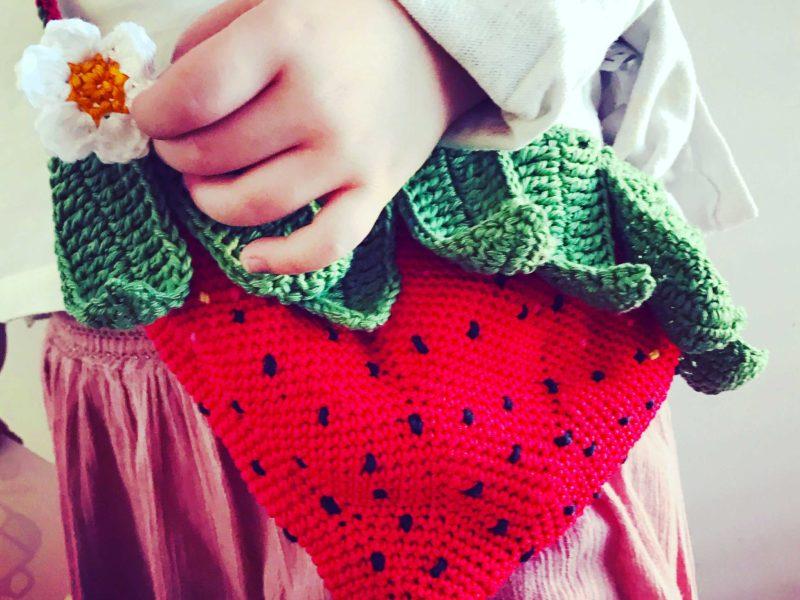 Sac fraise pour le printemps