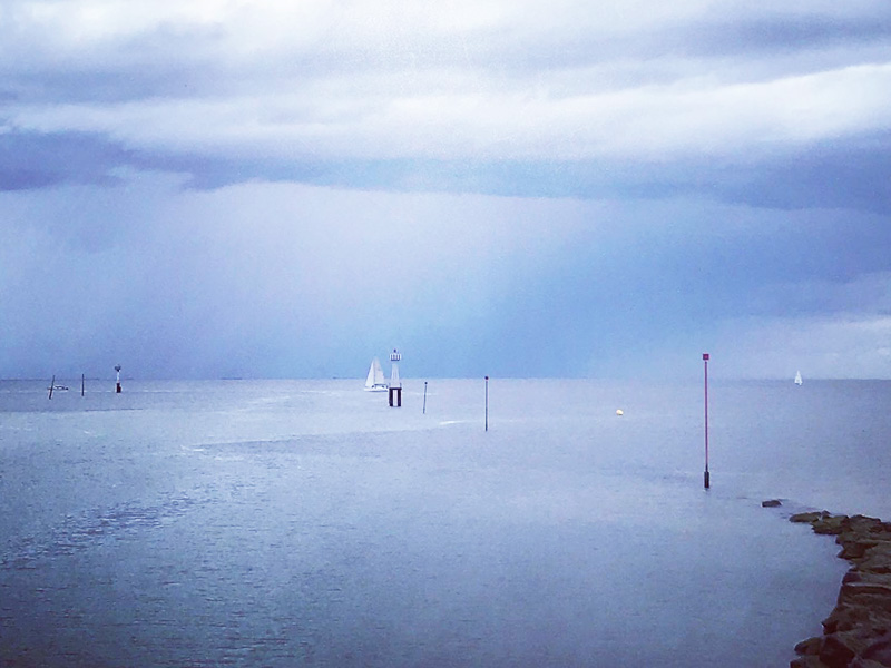 La mer et des mouettes