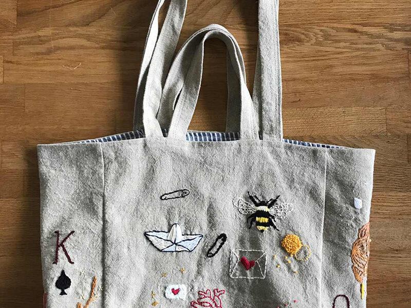 Mon sac bordé à deux poignées
